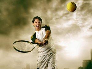 户外网球运动