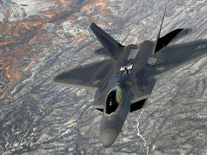 灰色F-22猛禽战斗机
