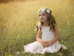 天真可爱的欧美小女孩