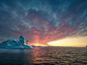 格陵兰岛的冰川