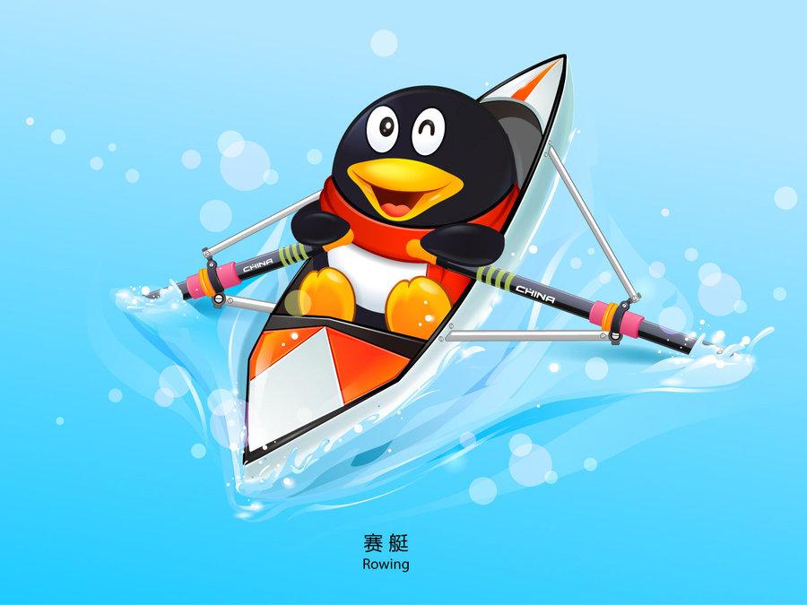 qq企鹅油桶_qq企鹅赛艇