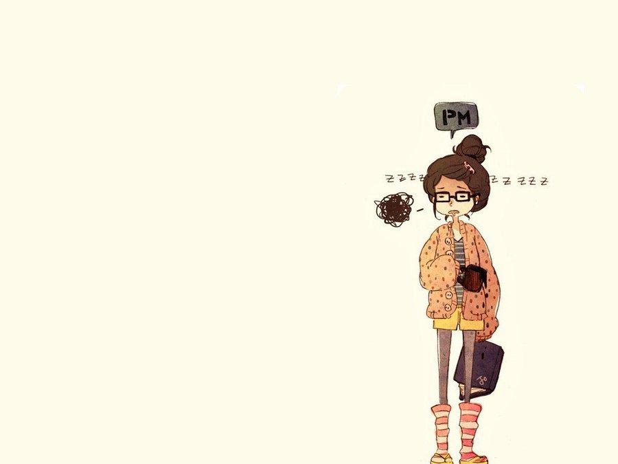 可爱卡通少女