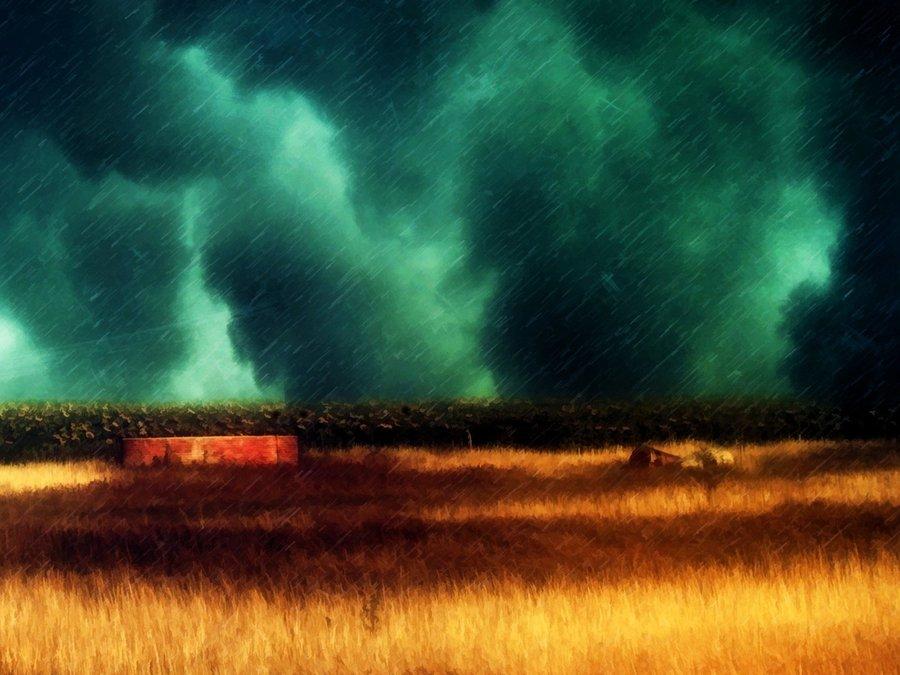 暴风雨中的风景