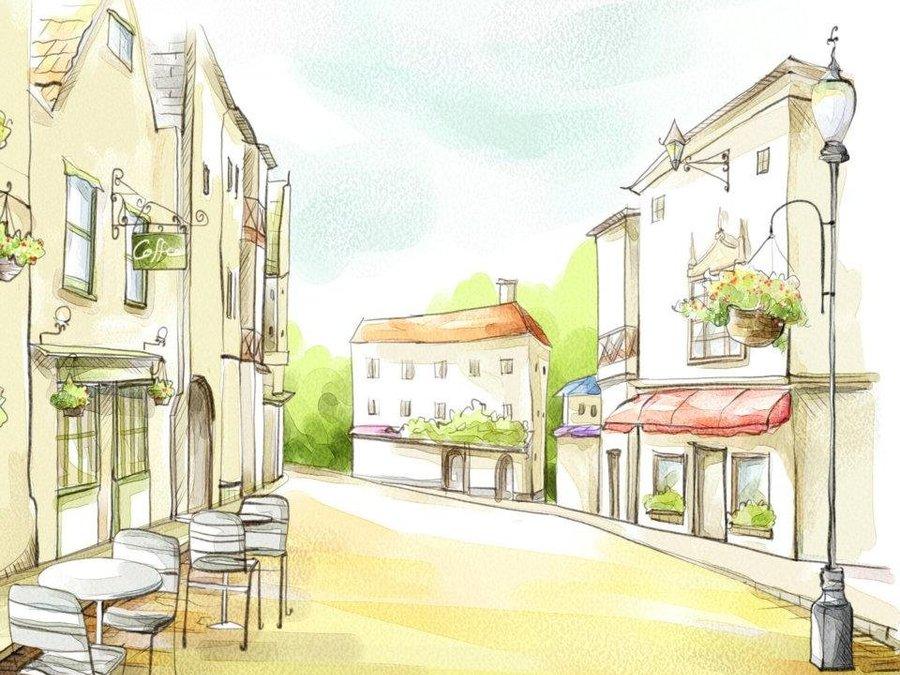 城市的房子简笔画图片大全
