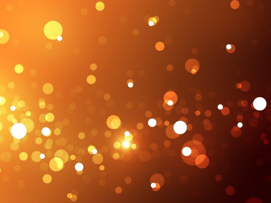 橙色星空手绘图