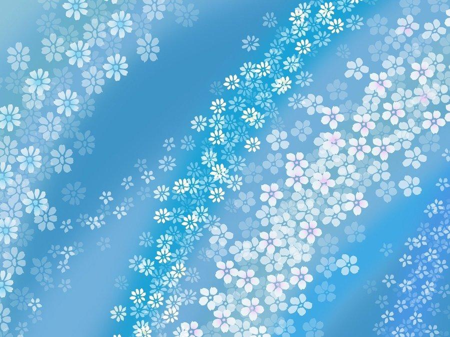 蓝色小清新背景高清矢量图