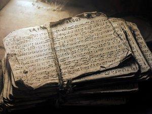 破旧的乐谱