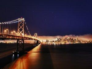 金门大桥的夜景