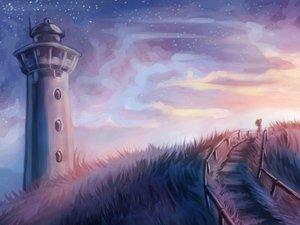 繁星下的灯塔