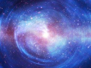 宇宙里的蓝色星空